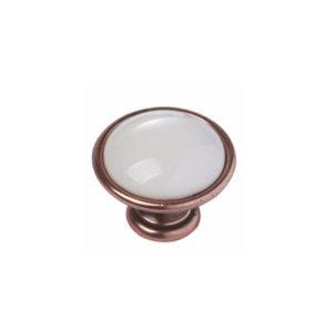 BM-RI352 Ручка-кнопка New Deco состаренная медь+керамика